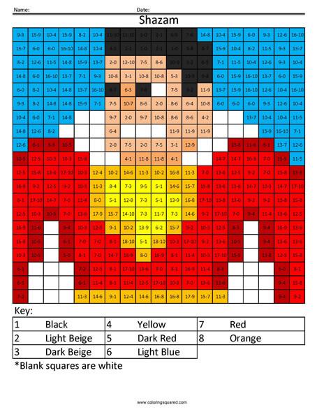 Shazam Coloring Page