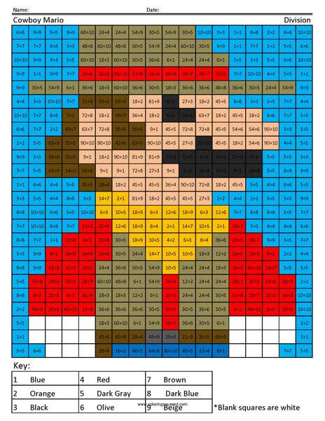 Mario Odyssey Division Coloring Squared