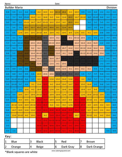 Builder Mario Coloring Page