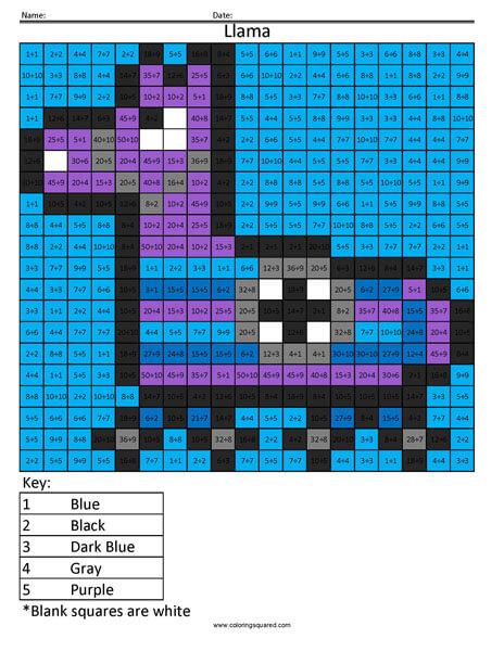Fortnite Llama Division Coloring Coloring Squared