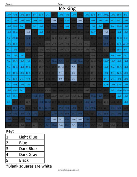 Fortnite Ice King Division Coloring Squared