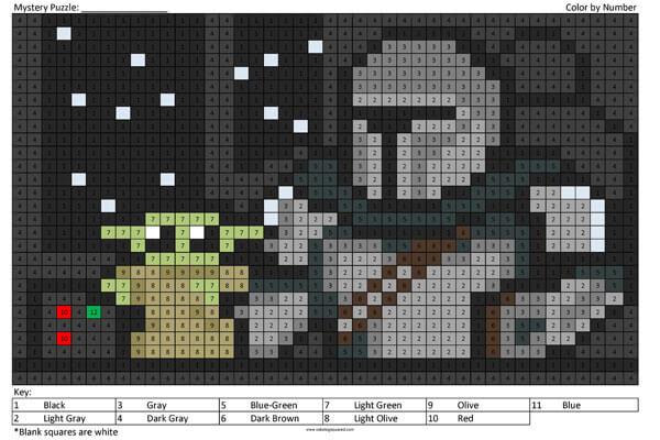 Mandalorian And Baby Yoda Coloring Squared